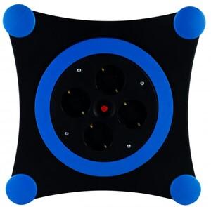 REV Kabelbox 4-fach Schutzkontaktsteckdose H05VV-F 3G1,5 blau schwarz ,