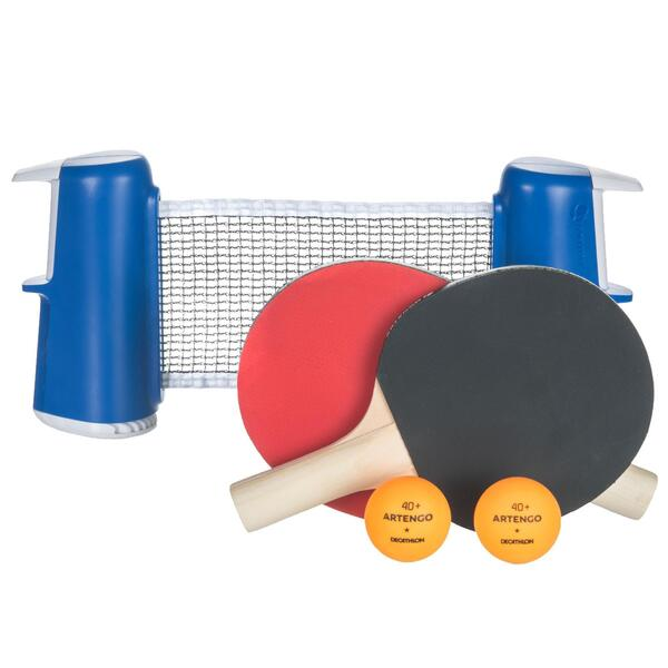 Tischtennis-Set Rollnet Small + 2 Schläger + 2 Bälle