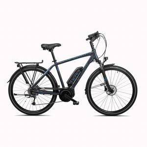 E-Bike 28 Zoll Trekkingrad Riverside 500 Perf Line Herren 400 Wh anthrazit/blau