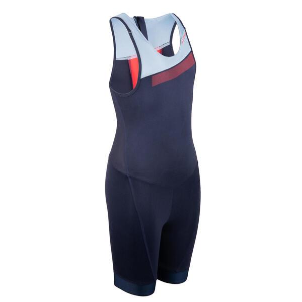 Triathlon Anzug SD ärmellos Kinder blau