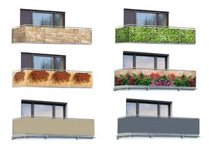 Balkon Sichtschutz Mauer-Blumen