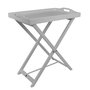 Holz Serviertablett 63x35x56cm Homestyle weiß Frühstückstablett Tablett