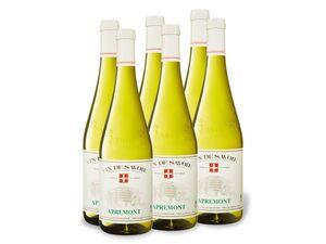 6 x 0,75-l-Flasche Vin de Savoie Apremont AOC trocken, Weißwein
