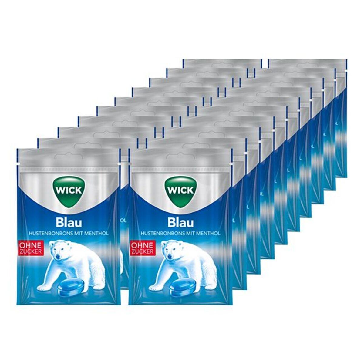 Bild 1 von Wick Blau Menthol Hustenbonbons 72 g, 20er Pack
