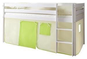 Spielbett in Grün/Weiß/Beige ´807205 MALTE´