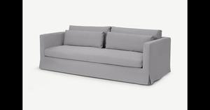Arabelo 3-Sitzer Sofa, Mineralgrau - MADE.com