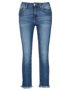 Damen 7/8 Jeans mit ausgefransten Abschlüssen