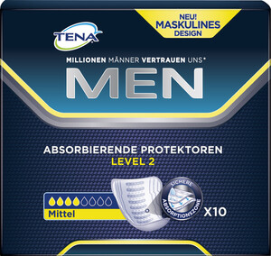 TENA Men Absorbierende Protektoren Level 2 10 Stück