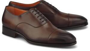 Santoni, Oxford-Schnürer in dunkelbraun, Business-Schuhe für Herren