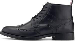 Tommy Hilfiger, Schnür-Boots Brogue in dunkelgrau, Boots für Herren