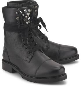 COX, Schnürstiefelette in schwarz, Boots für Damen