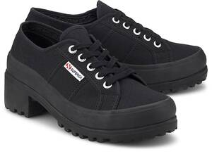 Superga, Sneaker 4850 Cotw in schwarz, Schnürschuhe für Damen