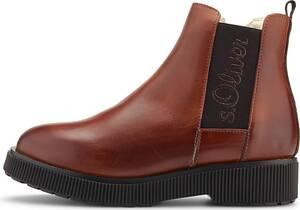 s.Oliver, Chelsea-Boots in mittelbraun, Boots für Damen