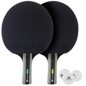 Tischtennis-Set mit 2 Tischtennisschlägern 3 Bällen