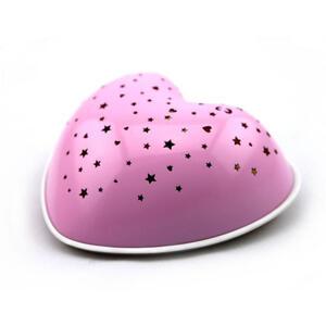 XXXLutz Kinder-nachtlicht , 80035 Solar Heart , Rosa , Kunststoff , 7.5 cm , Farbwechsler, 3 Helligkeitsstufen, Sternenhimmel , 005448002501