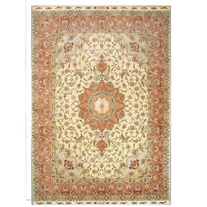 Esposa Orientteppich 150/200 cm beige , Tabriz Yalda Floral Medallion , Textil , Bordüre , 150x200 cm , in verschiedenen Größen erhältlich , 005088028261