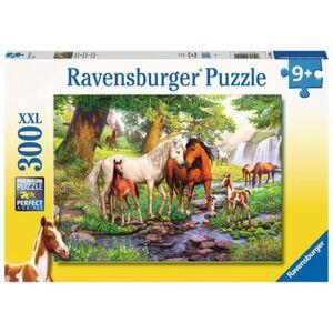 Puzzle - Wildpferde am Fluss - 300 XXL Teile