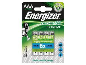 Energizer  NiMH Akkumulator Extreme, Micro AAA Batterie 800 mAh, vorgeladen 4 Stück