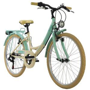 KS Cycling Kinderfahrrad 24'' Kahuna für Mädchen, Größe: 36, Grün