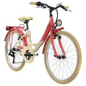 KS Cycling Kinderfahrrad 24'' Kahuna für Mädchen, Größe: 36, Rot