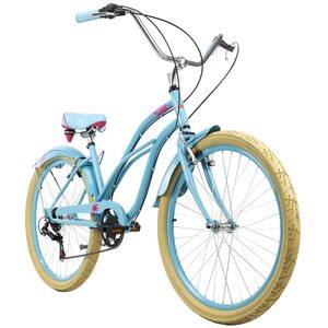 KS Cycling Beachcruiser 26 Zoll Splash 6 Gänge für Damen, Größe: 44, Blau