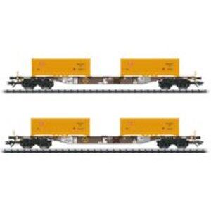 Trix T24136 H0 Container-Tragwagen-Set AAE VI