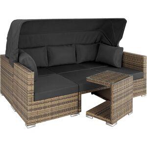 Rattan Lounge mit Aluminiumgestell San Marino natur