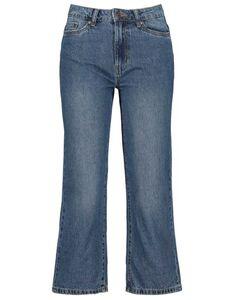Damen High Waist Jeans Culotte mit weitem Bein