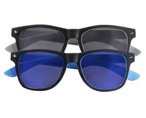 Sonnenbrillen im Doppelpack, schwarz mit grau + schwarz mit blau