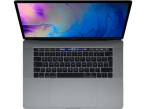 APPLE MacBook Pro MR932D/A-139856 mit französischer Tastatur, Notebook 15,4 Zoll Display, Core™ i9 Prozessor, 16 GB RAM, 2 TB SSD, Radeon™ 555X, Space Grau