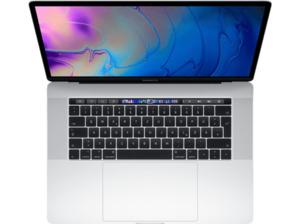 APPLE MacBook Pro MR962D/A-140056 mit französischer Tastatur, Notebook 15,4 Zoll Display, Core i9 Prozessor, 16 GB RAM, 2 TB SSD, Radeon™ 555X, Silber