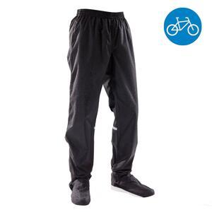 Fahrrad-Regenhose City 100 wasserdicht schwarz
