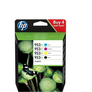 HP 953XL, 4er-Pack, Hohe Ergiebigkeit, Schwarz, Gelb, Cyan, Magenta, Original (3HZ52AE)
