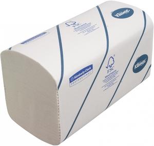 Kleenex® Gefaltete Ultra Small-Papiertücher, 2-lagig, 186 Tücher, Interfold, 215 mm, Weiß