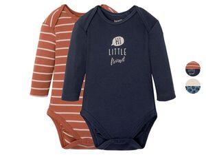 LUPILU® Baby Body Jungen, 2 Stück, mit Knöpfung