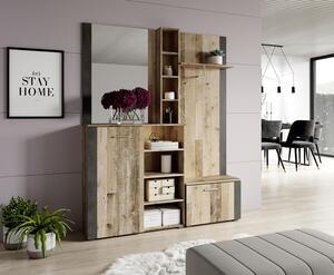 Garderobe in Anthrazit/ Naturfarben ´BARRY B:150CM´