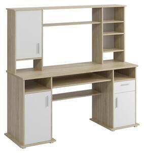 Schreibtisch in Weiß/Eiche ´TITO B: 160 CM SONOMA EICHE´