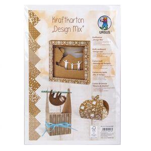 Kraftpapier Design Mix - DIN A4 - 10 Blatt