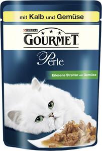 Purina Gourmet Perle Erlesene Streifen mit Kalb und Gemüse Katzenfutter nass 85 g