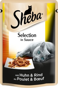 Sheba Selection in Sauce mit Huhn & Rind Katzenfutter nass 85 g