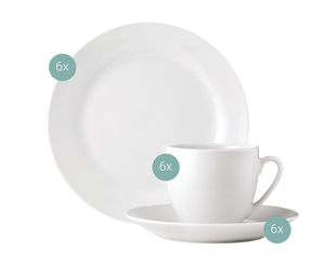 Van Well Kaffee-Set 18tlg. Basic