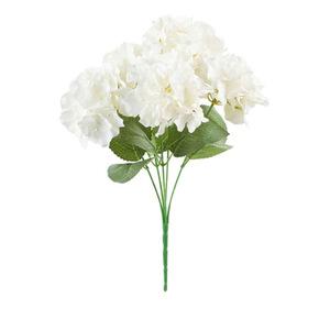 Kunstblume Hortensie L 43 cm in Weiß