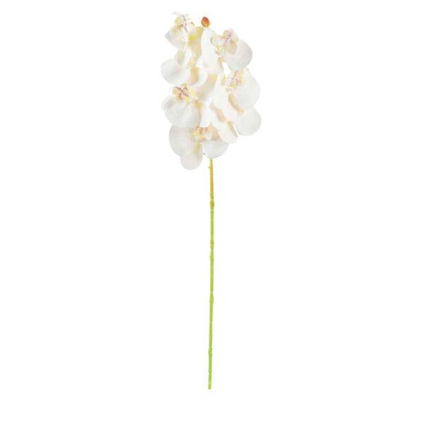 Kunstblume Orchidee 53 cm in Weiß