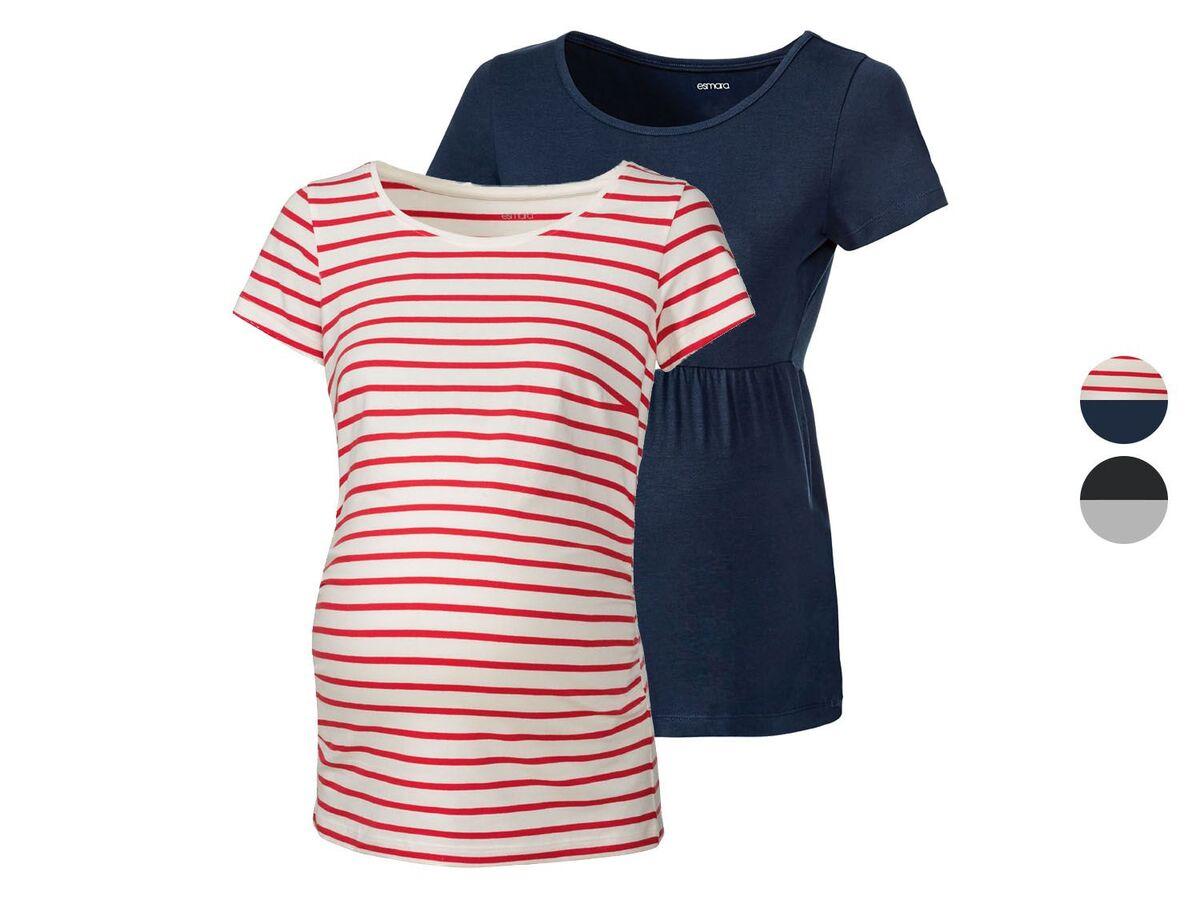 Bild 1 von ESMARA® Umstandsthirts Damen, 2 Stück