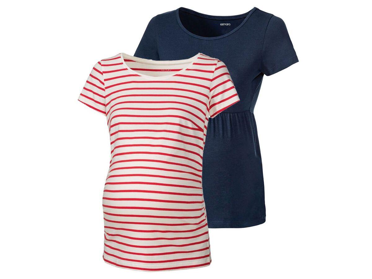Bild 8 von ESMARA® Umstandsthirts Damen, 2 Stück