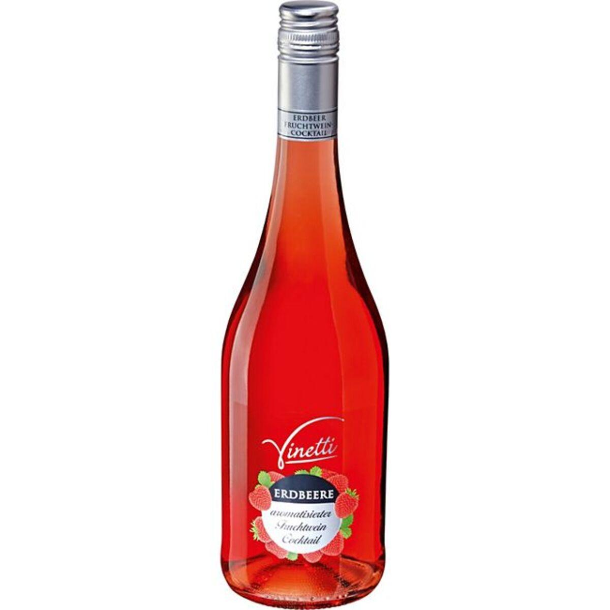 Bild 1 von Vinetti Erdbeere arom. Fruchtwein Cocktail 8,0 % vol 0,75 Liter