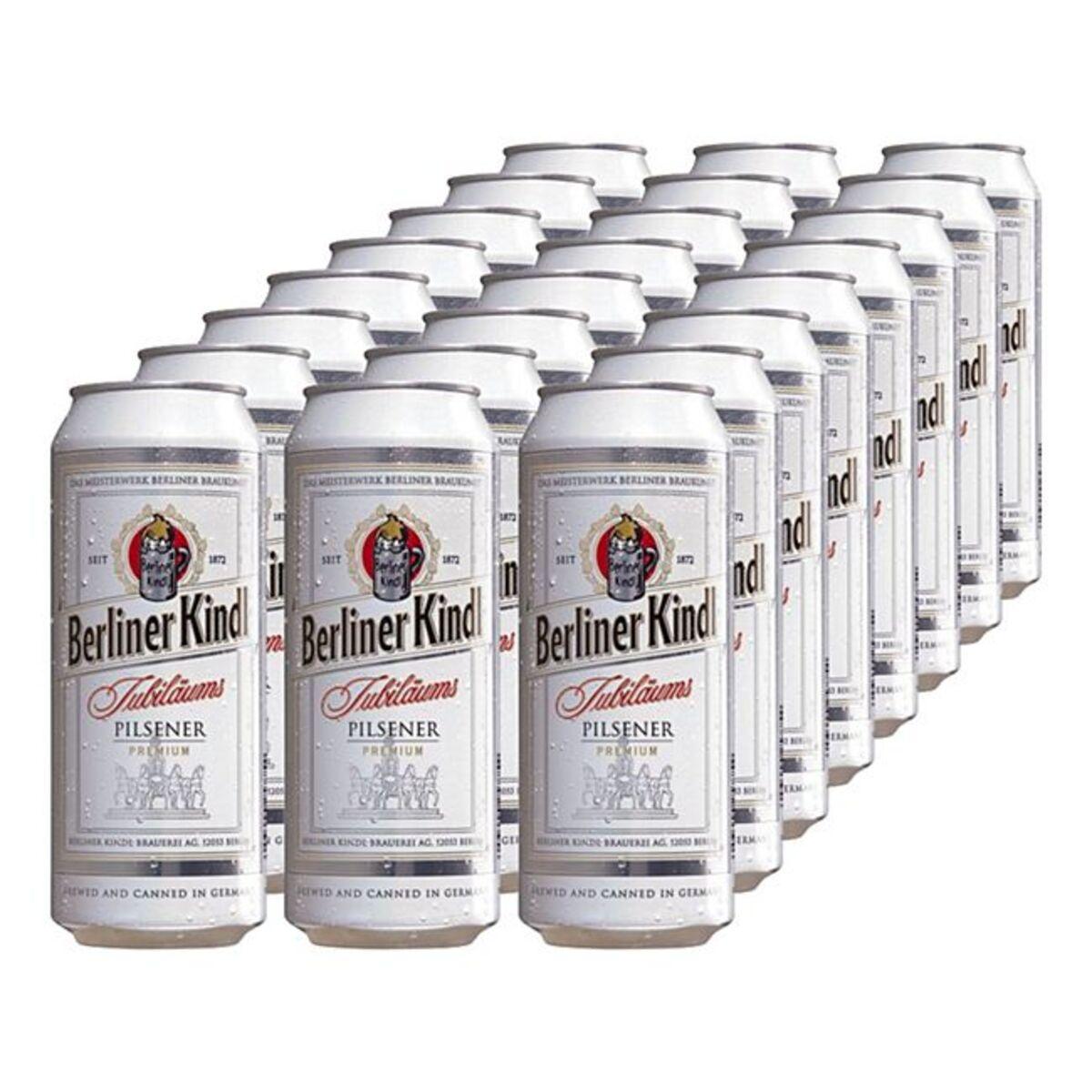 Bild 1 von Berliner Kindl Jubiläums Pilsener 5,1 % vol 0,5 Liter Dose, 24er Pack