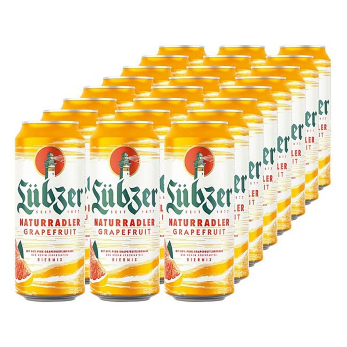 Bild 1 von Lübzer Grapefruit 2,0 % vol 0,5 Liter Dose, 24er Pack