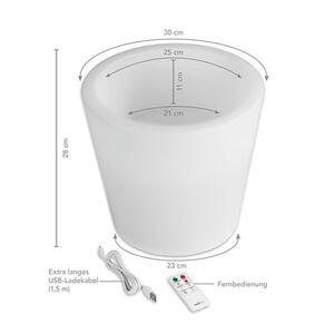 MAXXMEE LED-Blumenkübel 28 cm weiß mit Farbwechsel versch. Formen