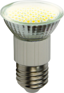 E27 60 SMD / 3 Watt LED Lampe - warmweiß 2700K